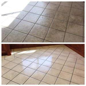 tile cleaning before ad after